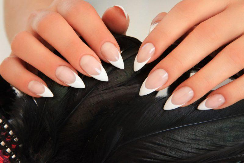 Френч на острых ногтях – 4 идеи красивого и модного дизайна с фото