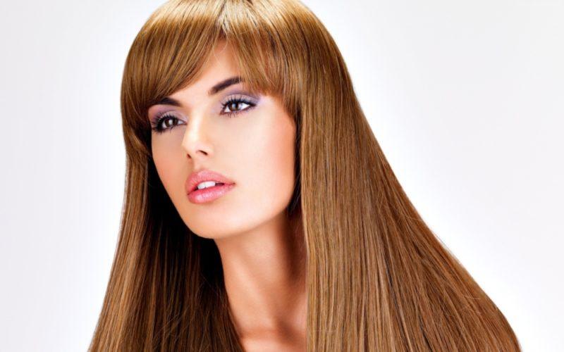 Удлинённая чёлка: виды и варианты укладки, причёски с длинной чёлкой