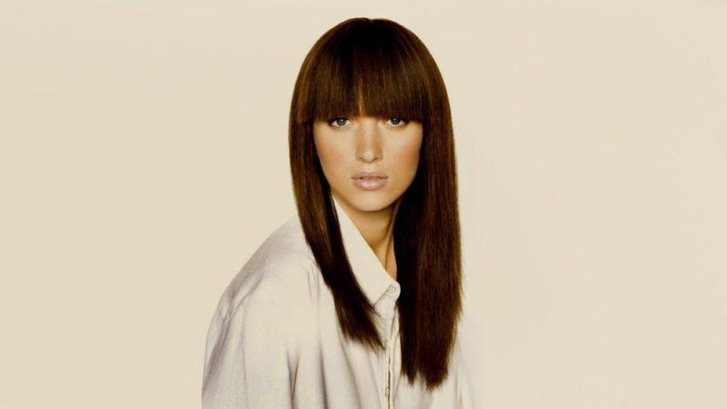 Стрижки на длинные волосы с челкой: виды стрижек, способы укладки, фото